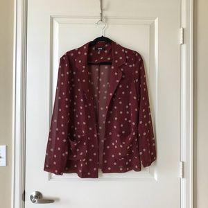 Asos maroon polka dot blazer, size US8/UK12